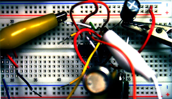 Noise Synthesizer Breadboard